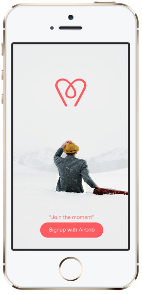Signup Airbnb Moments by Jihad Kawas on mockupd